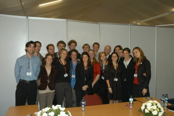 Candian youth with the Minister for the Environment at  UNFCCC COP 16, Nairobi, Kenya.