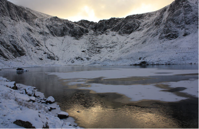 Cwm Idwal at sunrise