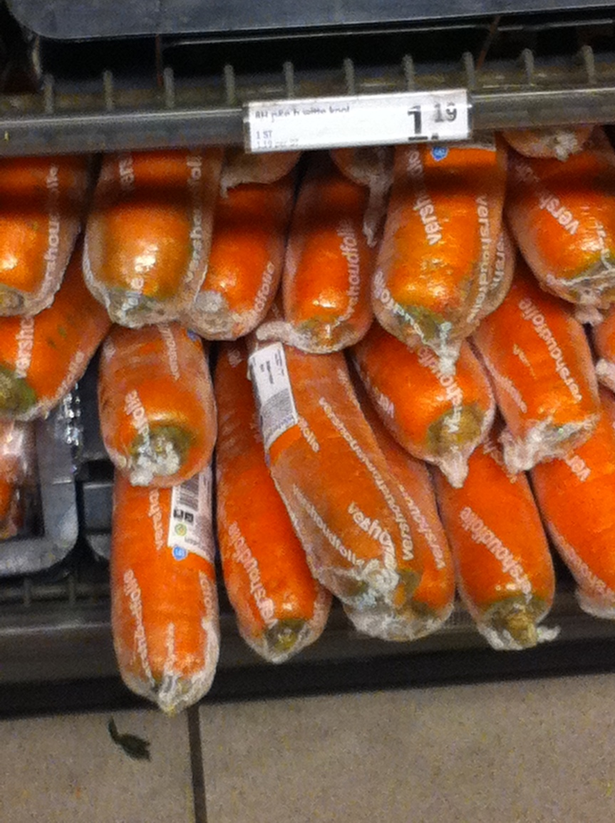 Do you want your carrots wrapped in plastic?